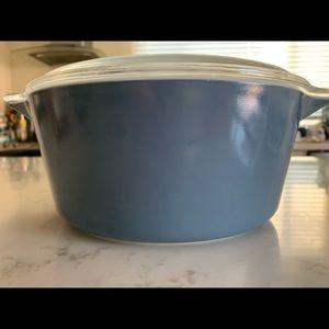 Vintage Blue Pyrex 2.5 Qt. Dish